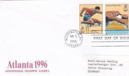 USA FDC 1996 Atlante Centennial Olympic Games (G83-37) - Ete 1996: Atlanta