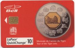 Canada Bell : Monnaie De L'Année Du Tigre - Timbres & Monnaies