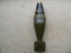 Obus De Mortier US 60 Mm WW2 Neutralisé - Armes Neutralisées