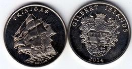 GILBERT ISLAND 2014 Trinidad 1 Dollar $ UNC - Münzen