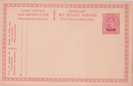 MALMEDY - N°6 - 10c+10c Rouge Sur Jaune (Haarlem) - FR/NL - Avec Réponse Payée - Eupen & Malmedy