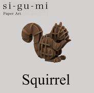 SI-GU-MI Paper Art :  Squirrel ( Azone ) - Small Figures