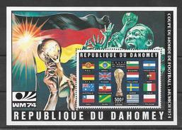 Dahomey Bloc CM 74 ** - Coppa Del Mondo