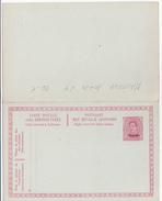 MALMEDY - N°4 - 10c+10c Rouge Sur Bleu  (55c) (Haarlem) - FR/NL - Avec Réponse Payée - Eupen & Malmedy