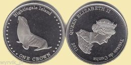 TRISTAN Da CUNHA Nightingale Island 2011 1 Crown Seal UNC - Altre Monete