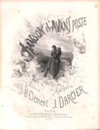 Chanson D'avant Poste. Partition Ancienne, Grand Format, Couverture Illustrée Donjean. - Scores & Partitions