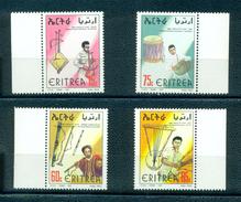 Eritrea 1997-Traditional Musical Instruments  Set (4v) - Eritrea