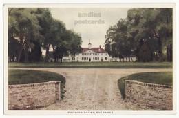 MT VERNON MANSION VA, BOWLING GREEN ENTRANCE, 1920 Postcard, Virginia Historic Site - History