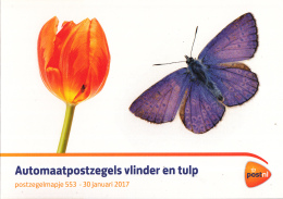 Nederland - Mapje 553 - 30 Januari 2017 - Tulp/vlinder-butterfly-Schmetterling -zonder Zegels/ohne Briefmarken/no Stamps - Vlinders