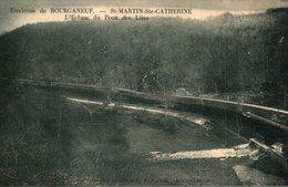 CPA RARE ENVIRONS DE BOURGANEUF SAINT MARTIN SAINTE CATHERINE L'ECLUSE DU PONT DES LILAS - Bourganeuf