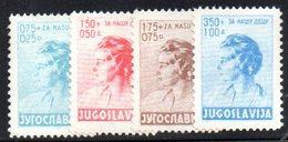 XP2872 - YUGOSLAVIA 1936 , Unificaton. 297/300  *  Pro Infanzia - Nuovi