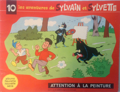 Album Sylvain Et Sylvette - Attention A La Peinture NS N°10 - Books, Magazines, Comics