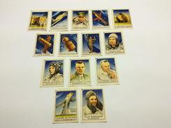 Set 14 Vintage USSR Soviet Stickers For Matchboxes Match Labels Gagarin Rocket Satellite 1950-60 Soviet Space Korolev - Matchbox Labels