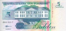 Surinam 5 Gulden 1998 Pick 136b UNC - Suriname