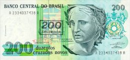 Brasil 200 Cruzados  (1990) Pick 225 UNC - Brazil