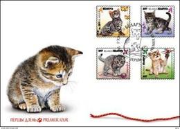 Belarus 2017 FDC Kittens Chatons Kätzchen Cat Cats Chat Chats - Chats Domestiques