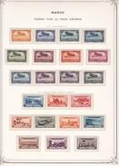 Maroc Poste Aérienne - Collection Vendue Page Par Page - Timbres Neufs Oblitérés - Neufs */** - B/TB - Airmail