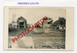 FROMELLES-CARTE PHOTO Allemande-Guerre 14-18-1 WK-FRANCE-59- - France