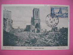 Carte-Maximum    N° 746  Eglise Saint-Jean à Caen  Cachet Du 9 Mars 1946 - 1940-49