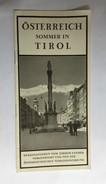TOURISM BROCHURES   PROSPECT   AUSTRIA  TIROL - Reiseprospekte
