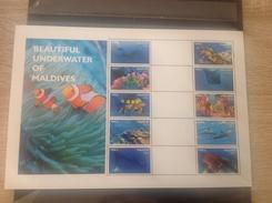 Maldiven / Maldives - Postfris / MNH - Sheet Onderwaterwereld Maldiven 2016 - Maldiven (1965-...)