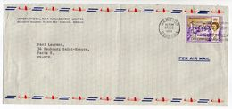 BERMUDES--Lot De 2 Lettres De HAMILTON Pour PARIS (France)--cachets-Beaux Timbres - Bermuda