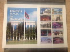 Maldiven / Maldives - Postfris / MNH - Sheet Mooie Plaatsen Maldiven 2016 - Maldiven (1965-...)