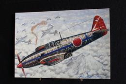 """P/48/ Avion - Les Chasseurs De La Seconde Guerre Mondiale,  """" Kawasaki Ki 61 """"Hien"""" ( Japon ) Dessin De Francis Bergèse - 1939-1945: 2ème Guerre"""