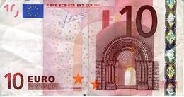 Grèce - 10 € 2002 - J. Cl Trichet - Série Y 22375597834 - N034E5 - Circulé - EURO