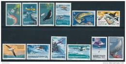 A.A.T. AUSTRALIAN ANTARCTIC TERRITORY 1973 SG 23-34 Set Of 12 [MNH] - Unused Stamps