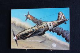 """P/49/ Avion - Les Chasseurs De La Seconde Guerre Mondiale, """" Macchi  C 202 Folgore"""" ( Italie ) Dessin De Francis Bergèse - 1939-1945: 2ème Guerre"""