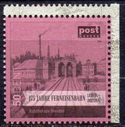 Privatpost Sachsen 175 J. Eisenbahn Leipzig-Dresden  Bahnhof Dresden - Eisenbahnen