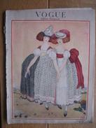 VINTAGE ORIGINAL MAGAZINE VOGUE DECEMBRE 1920 - ART DECO - 68 Pages - Illustrateurs Georges BARBIER - MICH