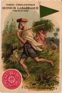 4 Trade Cards Chromo  SPAIN ESPANA PUB  CAMPUZANO MALAGA   Quinium Labarraque   C 1900 CARTERO - Espagne