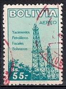 (A) Bolivia 1955 - Airmail - Development Of Petroleum Industry - Bolivia