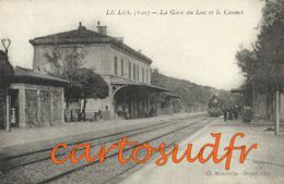 83  LE LUC TRAIN LA GARE INTERIEURE DU LUC ET LE CANNET - SUPERBE - Le Luc