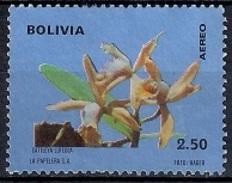(A) Bolivia 1974 - Airmail - Orchids - Bolivia