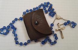 Ancien Chapelet Argent Perle Verre Ou  Cristal ?  Catholique Religieux - Religion & Esotérisme