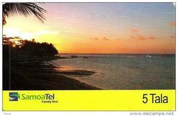 SAMOA $5 SUNSET LANDSCAPE 1ST ISSUE & LAST ED 31/12/2006 INDUCTIVE CODE: WSA-? READ DESCRIPTION !! - Samoa
