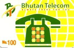 BHUTAN 100 NU TELEPHONE PAD SKY GSM MOBILE PHONE READ DESCRIPTION !! - Bhutan