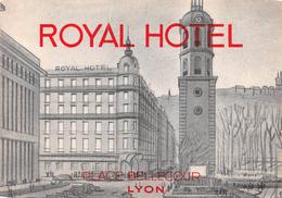 """D5610 """"HOTEL ROYAL - LYON - PLACE BELLECOUR"""" ETICHETTA ORIGINALE - ORIGINAL LABEL - Hotel Labels"""