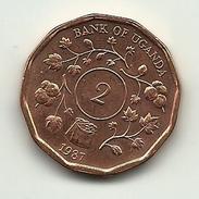 1987 - Uganda 2 Shillings, - Uganda
