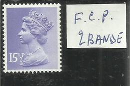 GREAT BRITAIN GRAN BRETAGNA 1971 FOSFORO 2 BANDS PHOSPHORUS QUEEN ELIZABETH II REGINA ELISABETTA 15½p 15½ P MNH - 1952-.... (Elisabetta II)