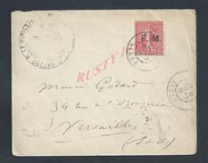 MILITARIA LETTRE EN FRANCHISE MILITAIRE TIMBRE SEMEUSE FM CACHET MILITAIRE DELLYS ALGER OB VERSAILLES 1912 : - Poststempel (Briefe)