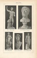 LAMINA ESPASA 1825: Estatuas De Lucio Vero - Altre Collezioni