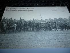 CARTE POSTALE  SOLDATS ALLEMANDS A BRUXELLES ARTILLERIE EN MANOEUVRE - Documents