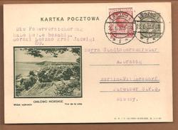 Polen Bildpostkarte Ortowo Morskie. Vue De La Cote. Leszno 1932 - Ganzsachen