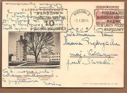 Polen Bildpostkarte Lwow.Warsawa L'institut Central De L'éducation Physique - Ganzsachen