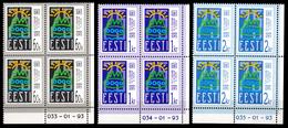 Estonia 1993 Estland  Mi 200-202 X4, 75 Years Republic / 75 Jahre Republik **/MNH - Estonie