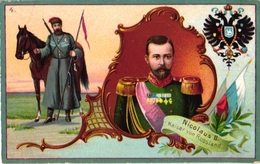3 Trade Cards  RUSSIA  PUB Robert Berger Poessneck   Nicolas II Litho BOGNARD  KaiserBanknote Russie Letter Imp Verger - Autres